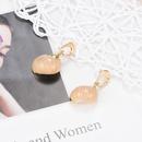 Fashion creative new shell pendant alloy earrings NHXS129868