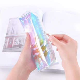 Cool laser transparent color fringe pencil case NHHE130211's discount tags