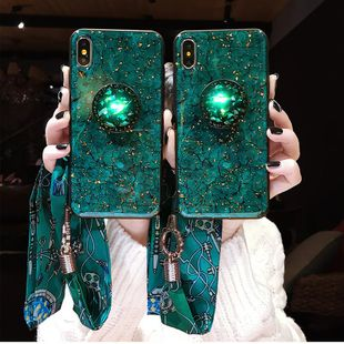 Emerald marble rhinestone stand mobile phone case NHJP130225 For iphone's discount tags