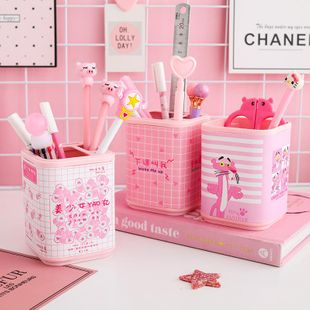 Fashion pen holder cartoon cute small fresh storage box NHHE130231's discount tags