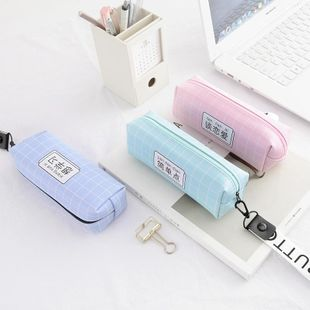 Creative cute female portable PU pencil bag stationery storage bag NHHE130258's discount tags