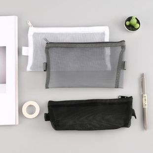 Simple and transparent mesh pen bag storage bag NHHE130266's discount tags