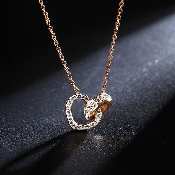 Unisex geometry plating titanium steel necklace NHIM125241