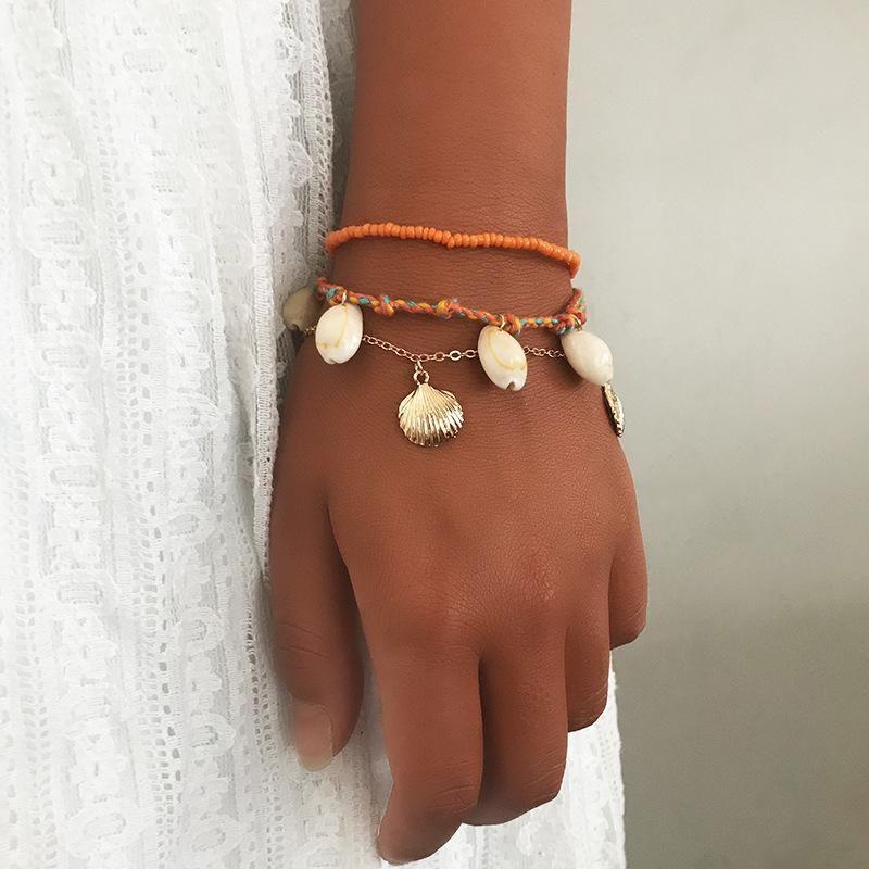 Womens Shell Plating Alloy Bracelets amp Bangles NHNZ125303