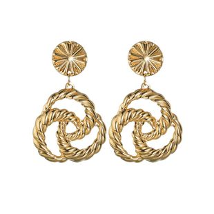 Womens Twist Electroplating Alloy Earrings NHBQ125310's discount tags