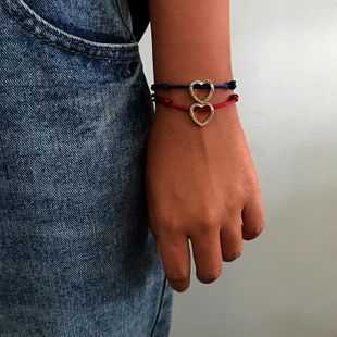 Womens Love Plating Woven heart Alloy Shell Bracelets & Bangles NHNZ125307's discount tags