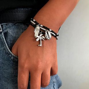 Womens Shell Coconut Tree Slippers Alloy Bracelets & Bangles NHNZ125321's discount tags