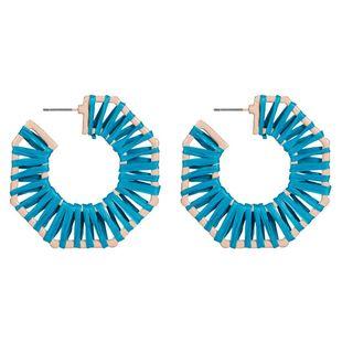 Vintage weaving Geometric Raffia Earrings NHJE125324's discount tags