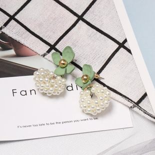 Womens Floral Beads Alloy Earrings NHJJ125325's discount tags