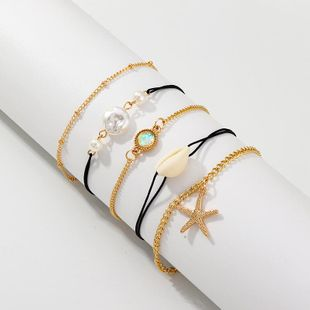 Womens Shell Starfish Plating Alloy Shell Bracelets & Bangles NHNZ125330's discount tags