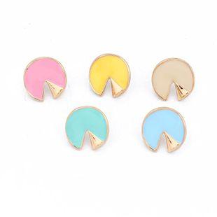 Womens Geometric Round Plastic  Resin Earrings NHGO125334's discount tags