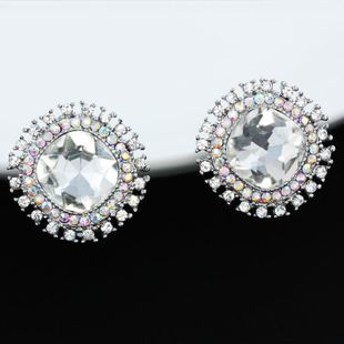 Womens Floral Plating Alloy Earrings NHAS125341's discount tags