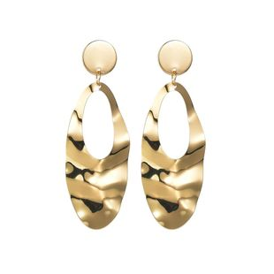 Womens Leaf Plating Alloy Earrings NHBQ125344's discount tags