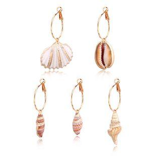 Womens Geometric Vintage seashell Earrings NHGO125350's discount tags
