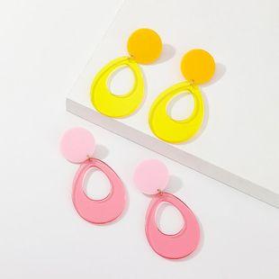 Womens Elliptical Alloy Earrings NHNZ125354's discount tags