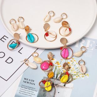 Womens shell mixed material Earrings NHJJ125355's discount tags