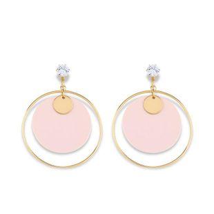 Womens Geometric Acrylic Alloy Soaring Earrings NHAS125368's discount tags