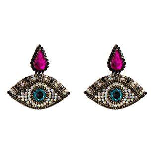 Womens Retro full drill Eye Acrylic Earrings NHJE125371's discount tags