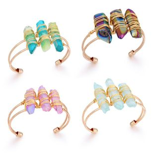 Personality creative natural stone Imitated crystal Bracelets & Bangles NHGO125384's discount tags