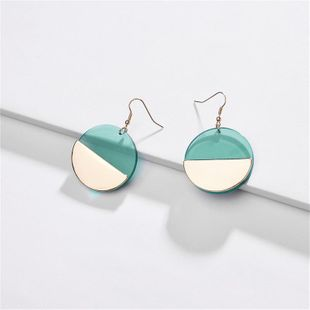 Womens Geometry Electroplating Acrylic round Alloy Earrings NHLU125387's discount tags