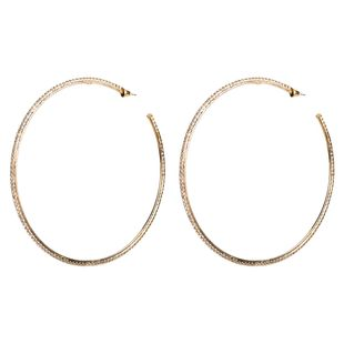 Womens Large circle with rhinestones  Acrylic Earrings NHJE125389's discount tags