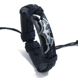 Unisex geometric leather Bracelets & Bangles NHPK125410's discount tags