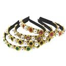 Vintage beads rhinestone Rhinestone Electroplated Hair Accessories NHNT125318