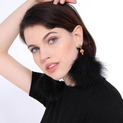 Boucles d'oreilles plumes et plumes strass NHQD125413's discount tags
