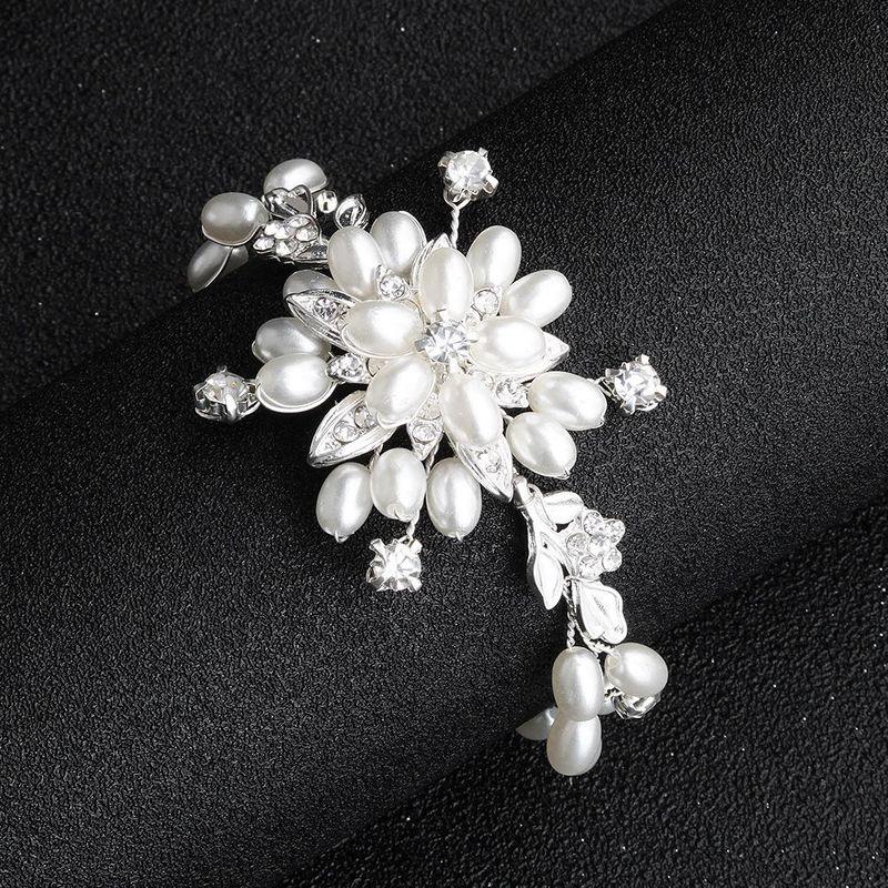 Womens Floral Beads Bridal Bracelet Bracelets & Bangles NHHS125418