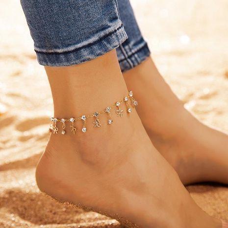 Bracelet cheville en alliage plaqué arc pour femme NHGY125479's discount tags