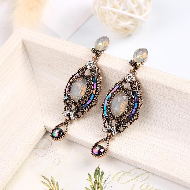 Womens Geometric Rhinestone Alloy Earrings NHQD125494
