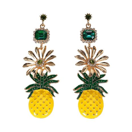 Womens Fruit Gemstone Alloy Earrings NHJQ125531's discount tags