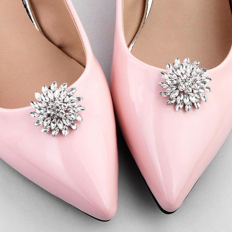 Fashion glass rhinestone shoe accessories shoe buckle NHHS125533's discount tags