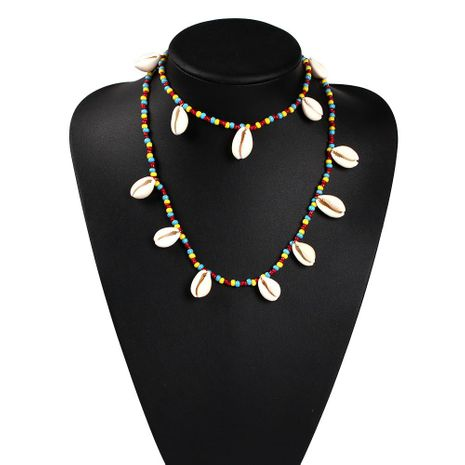 Womens Rice Beads Shell Necklaces NHMD125537's discount tags