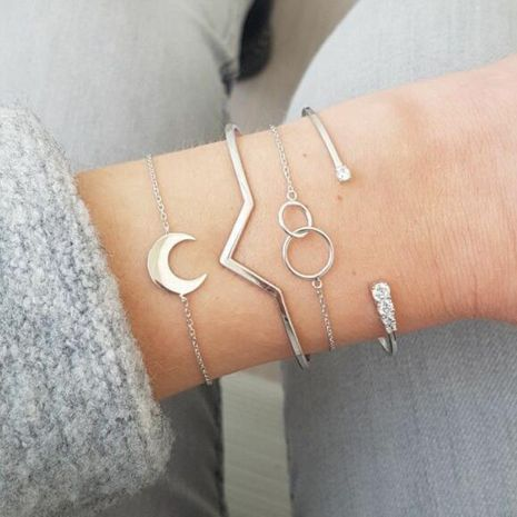 Womens Heart Plating Alloy Bracelets & Bangles NHGY125539's discount tags