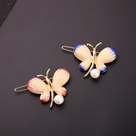 Womens Butterfly Drop Oil Alloy Hair Accessories NHQD125542's discount tags