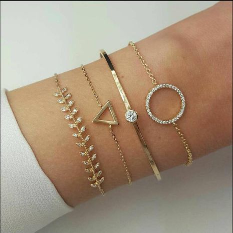 Womens Geometry Plating Alloy  Bracelets & Bangles NHMD125544's discount tags
