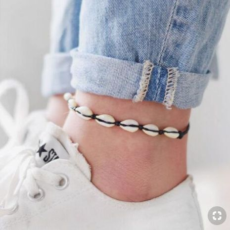 Womens Shell Plating Alloy ankle bracelet NHGY125548's discount tags