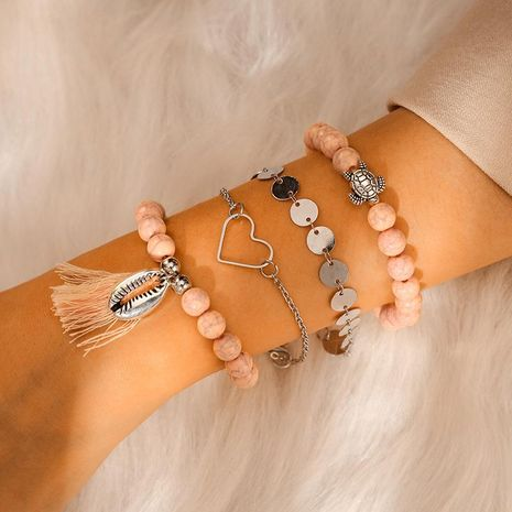 Womens Heart Bracelets & Bangles NHGY125555's discount tags