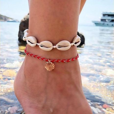 Womens Shell Plating Alloy ankle bracelet NHGY125561's discount tags