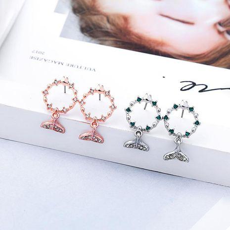 Womens Animal Zodiac Rhinestone Alloy Earrings NHQD125563's discount tags