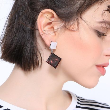 Womens Geometric Plating Acrylic Earrings NHQD125566's discount tags