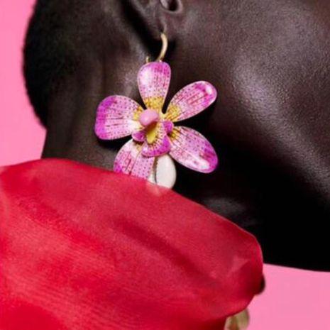 Womens Geometric Alloy Shell Earrings NHMD125571's discount tags