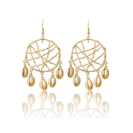 Retro ethnic style dream net mesh plating alloy Earrings NHGY125573's discount tags