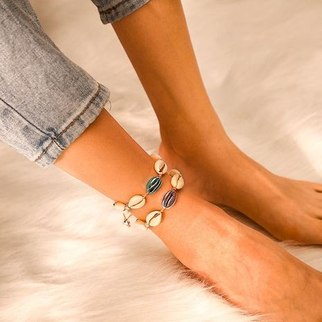 Womens Shell Plating Alloy ankle bracelet NHGY125579's discount tags