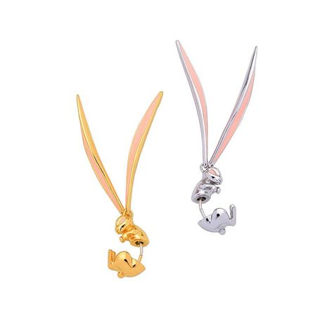 Cute bunny licking oil earrings NHQD125585's discount tags