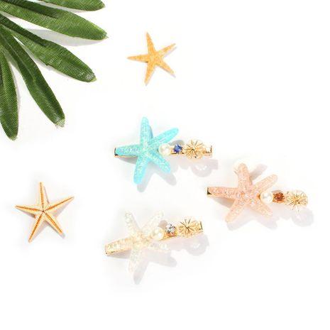 Womens U-shaped alloy  rhinestone beads Hair Accessories NHMD125592's discount tags