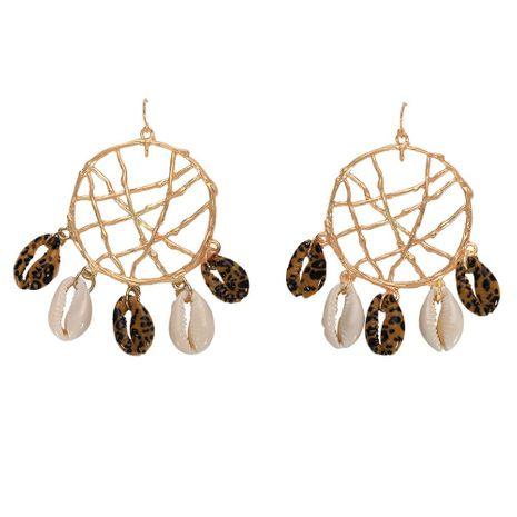 Womens Dream catcher hollow Shell Earrings NHJQ125601's discount tags