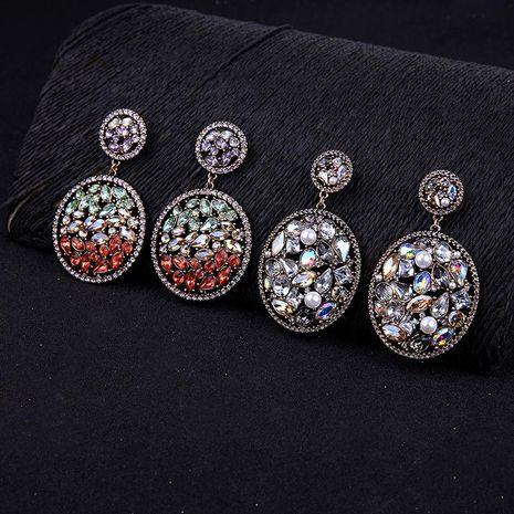 Womens Drop Shaped Rhinestone Alloy Earrings NHQD125613's discount tags