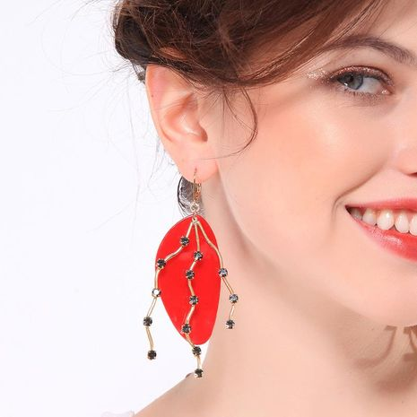Womens Geometric Rhinestone Boundary Earrings NHQD125621's discount tags